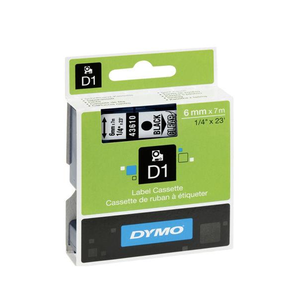 Dymo D1 Standard Label Tape Black on Clear - 43610 / S0720770