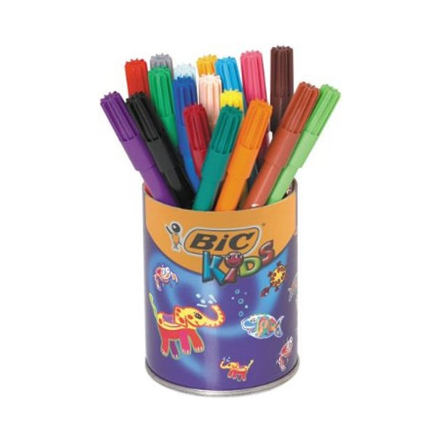 Bic Kids Visa Assorted Colours Felt Tip Pens (Pack of 36) - 829012
