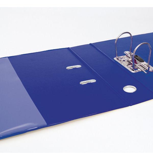 Elba Vision PVC Blue A4 Lever Arch File 70mm, Front/Back Pocket - 100082303