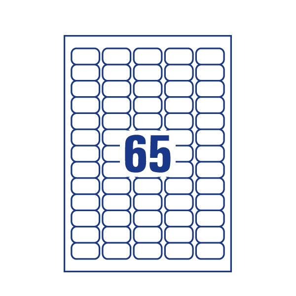 Avery Inkjet Mini Label 38.1x21.2 65 Per Sheet (Pk 1625) J8651-25