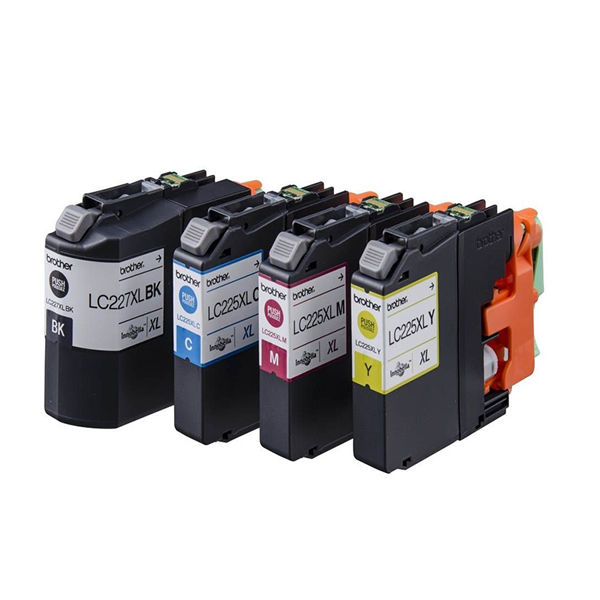 Brother LC-227XL/LC-225XL Cyan/Magenta/Yellow/Black High Inkjet Cartridges (Pack of 4) LC227XLVALBP