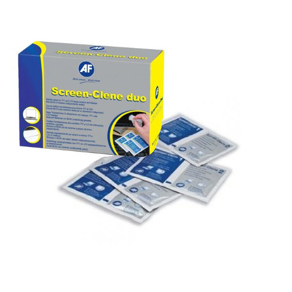 AF Screen-Clene Wet Wipe Sachets, Pack of 100 - ASCS100