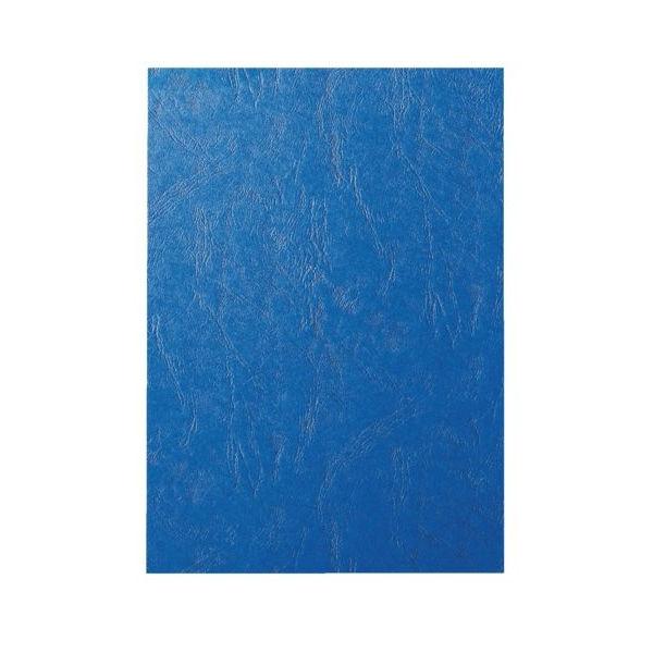 GBC Leathergrain Royal Blue A4 Binding Covers 250gsm, Pack of 100 - CE040029U