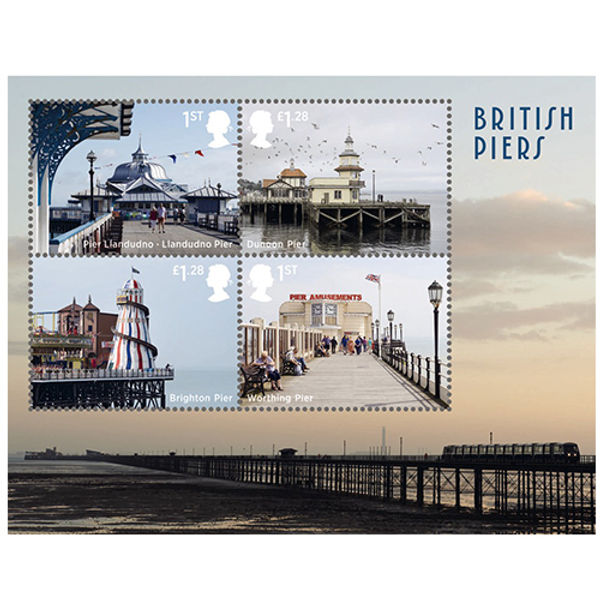 Piers Proms and Pavilions Miniature Sheet First Day Cover - BC512M