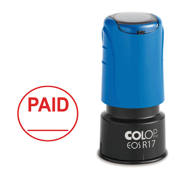 COLOP EOS R17 PAID Pre-Inked Circular Stamp - C109531PAI