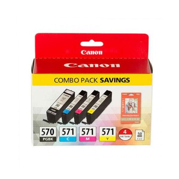 Canon CLI-571CMYK Ink Cartridge Pack 0386C005