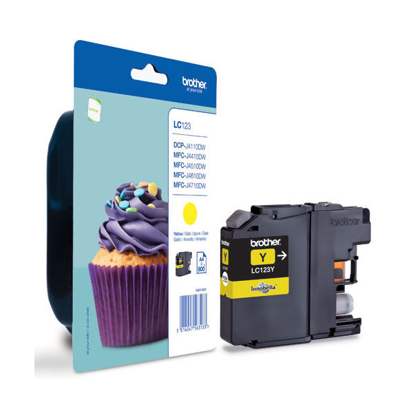 Brother LC123Y Yellow Ink Cartridge - LC123Y