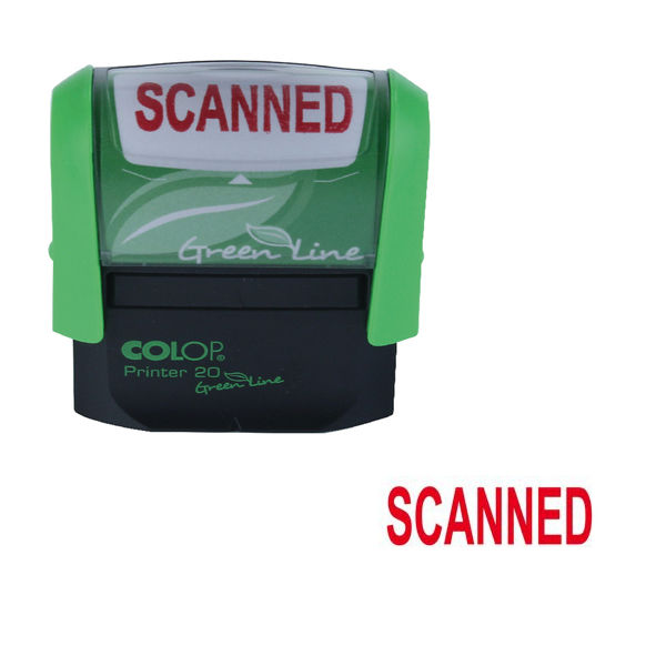 COLOP Green Line Word Stamp SCANNED Red (Impressions size 38 x 14mm) P20GLSCA