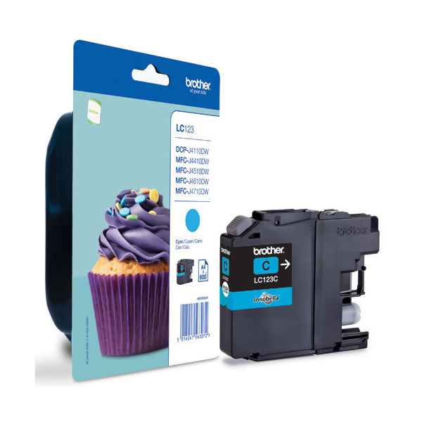 Brother LC123C Cyan Ink Cartridge - LC123C