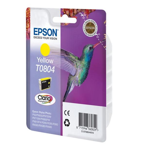 Epson T0804 Yellow Inkjet Cartridge C13T08044011 / T0804