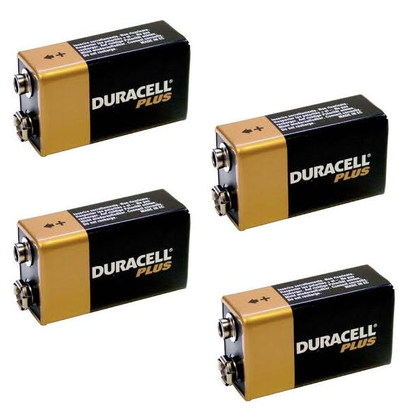 Duracell Copper and Black 9V Plus Batteries, Pack of 4 - 81275463