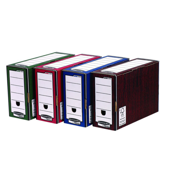 Fellowes Fast Fold Flip Top Storage Box Blue / White (Box