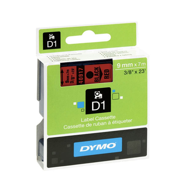 Dymo D1 Label maker Tape 9mm x 7m Black on Red | S0720720