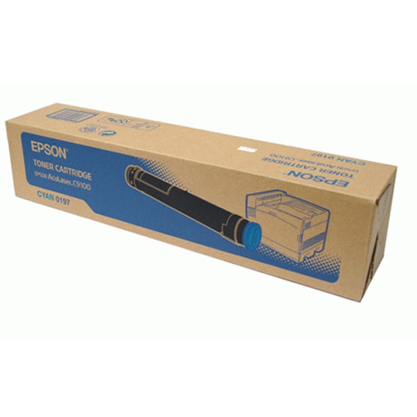 Epson C9100 Cyan Toner Cartridge  - C13S050197