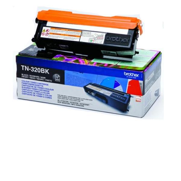 Brother TN320BK Black Laser Toner Cartridge TN-320BK