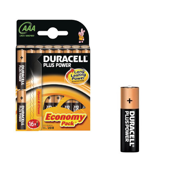 Duracell AAA Plus Power Batteries (Family Pack of 16) - 81275415