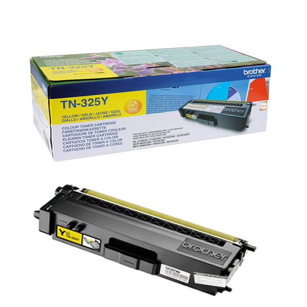 Brother TN-325Y Yellow Toner Cartridge - TN325Y