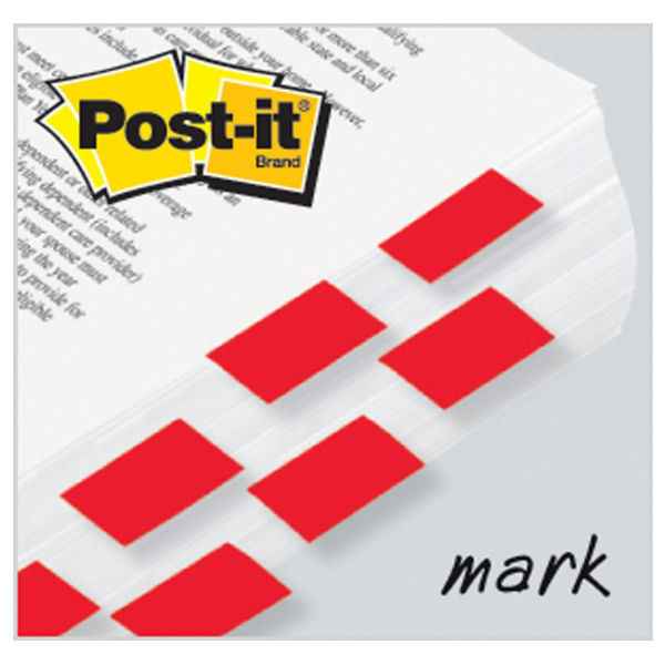 Post-it Red Index Tabs, Pack of 600 - 3M06260