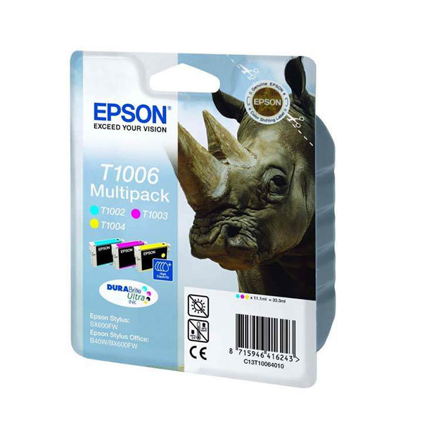 Epson T1006 Colour Ink Tri-Pack - High Capacity EP10064