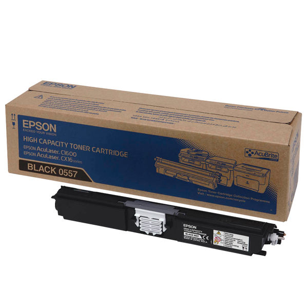 Epson C1600 Black Toner Cartridge - High Capacity C13S050557