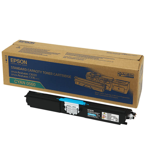 Epson C1600 Cyan Toner Cartridge - C13S050560