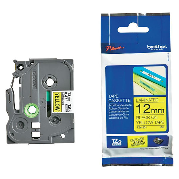 Brother TZe-631 P-Touch Label Tape Black - TZ631