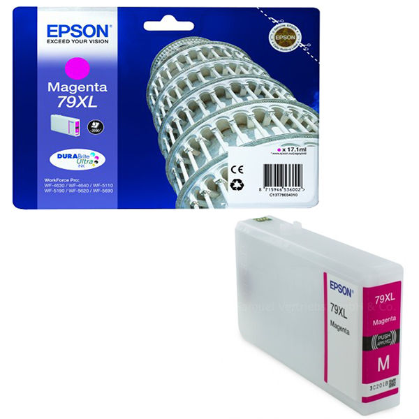 Epson 79XL High Capacity Magenta Ink Cartridge - C13T79034010