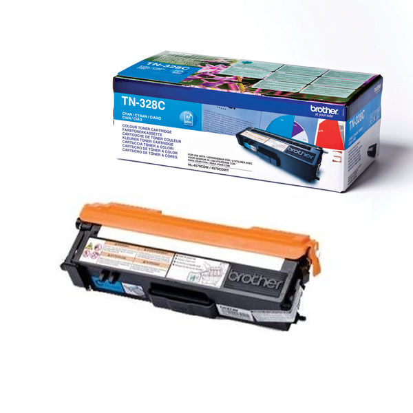 Brother TN328C Extra High Capacity Cyan Toner Cartridge - TN328C