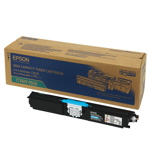 Epson C1600 Cyan Toner Cartridge - High Capacity C13S050556