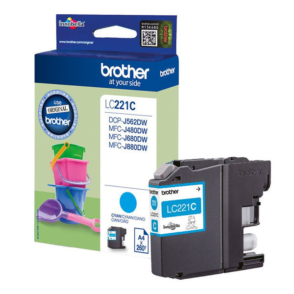 Brother LC221 Cyan Ink Cartridge - LC221C