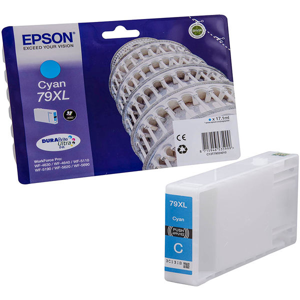 Epson 79XL High Yield Cyan Inkjet Cartridge C13T79024010 / T7902