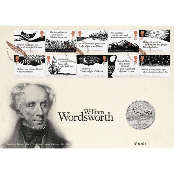 The William Wordsworth Brilliant Uncirculated Coin Cover