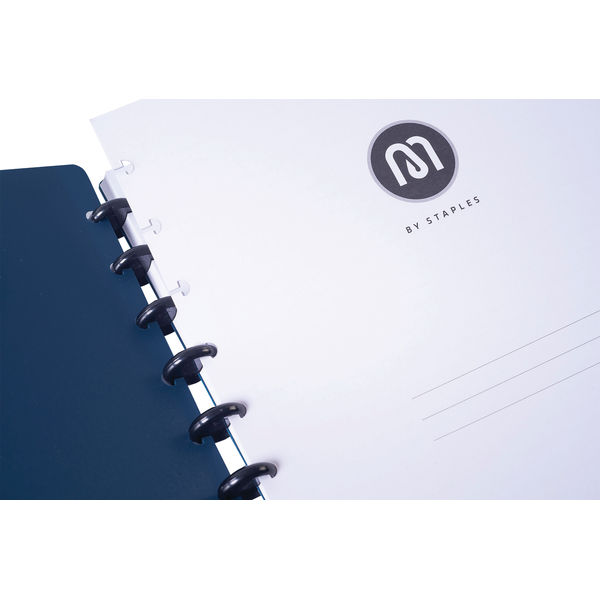 M By Staples ARC Notebook PP Cover Lined 60 Sheets A4 Blue 8851101