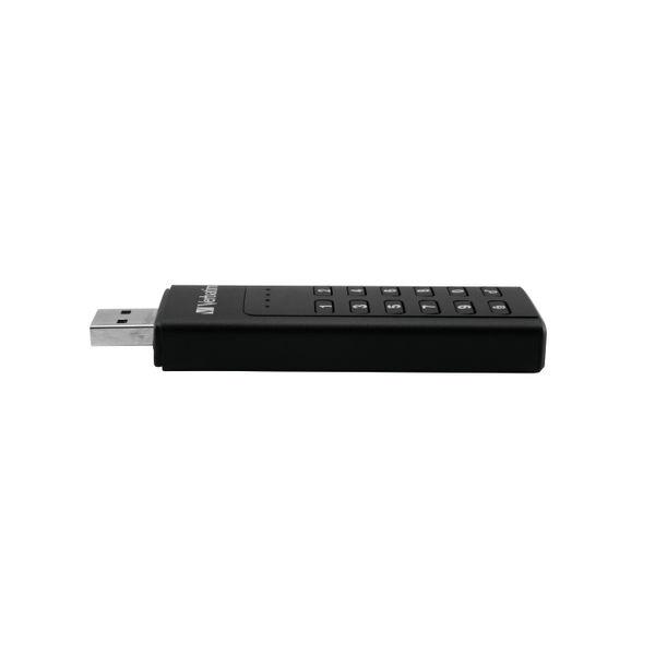 Verbatim 128GB Keyboard Secure USB 3.0 Drive - 49429
