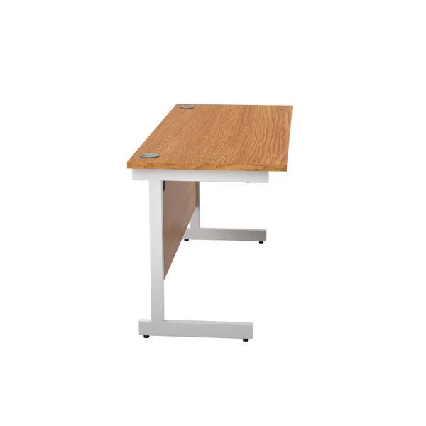 Jemini 1400x600mm Nova Oak/White Single Rectangular Desk