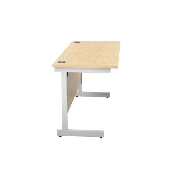 Jemini 1400x600mm Maple/White Single Rectangular Desk