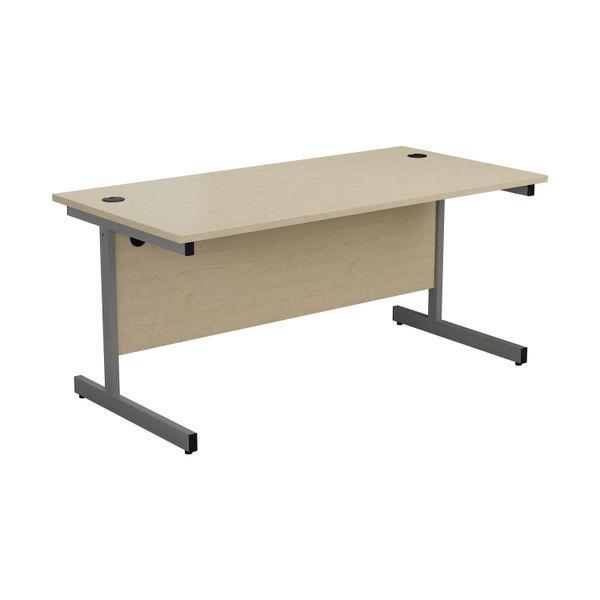 Jemini 1400x800mm Maple/Silver Single Rectangular Desk