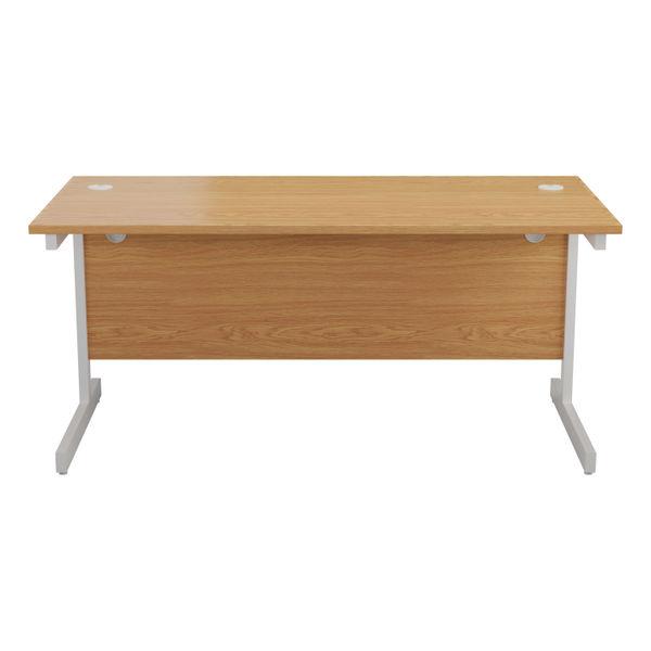 Jemini 1400x800mm Nova Oak/White Single Rectangular Desk