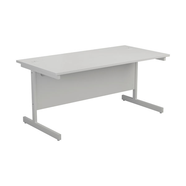 Jemini 1400x800mm White/White Single Rectangular Desk