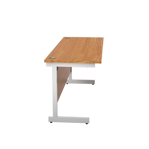 Jemini 1600x600mm Nova Oak/White Single Rectangular Desk