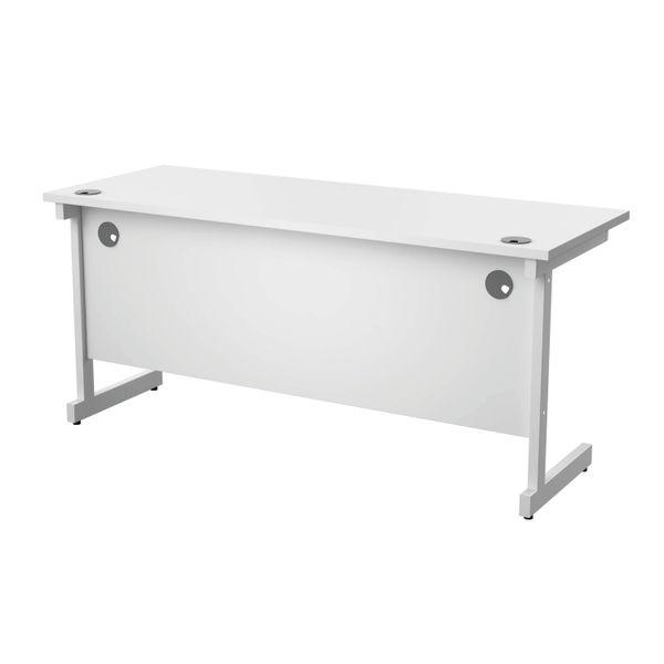 Jemini 1600x600mm White/White Single Rectangular Desk