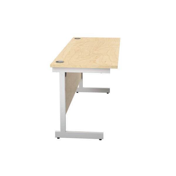 Jemini 1600x600mm Maple/White Single Rectangular Desk