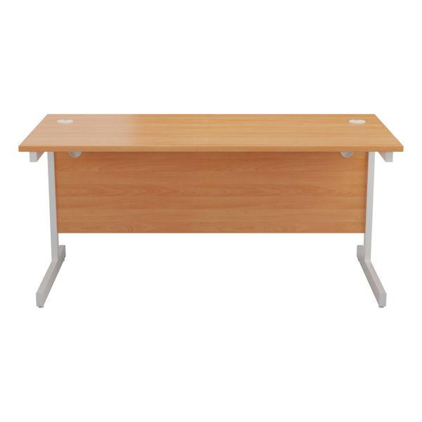 Jemini 1600x800mm Beech/White Single Rectangular Desk