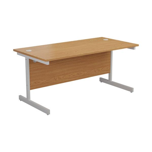 Jemini 1600x800mm Nova Oak/White Single Rectangular Desk