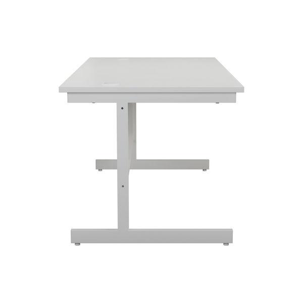 Jemini 1600x800mm White/White Single Rectangular Desk