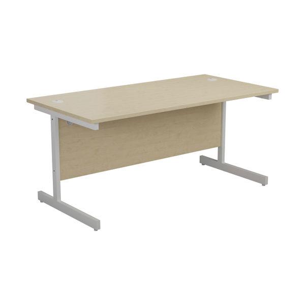 Jemini 1600x800mm Maple/White Single Rectangular Desk
