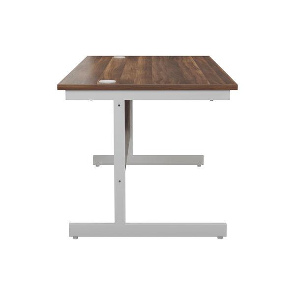 Jemini 1600x800mm Dark Walnut/White Single Rectangular Desk