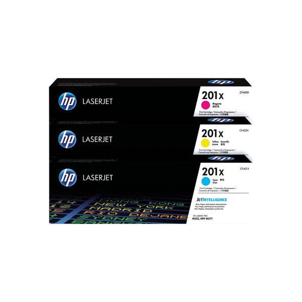 HP 201X High Yield Colour LaserJet Toner Cartridge Tri Pack | CF253XM