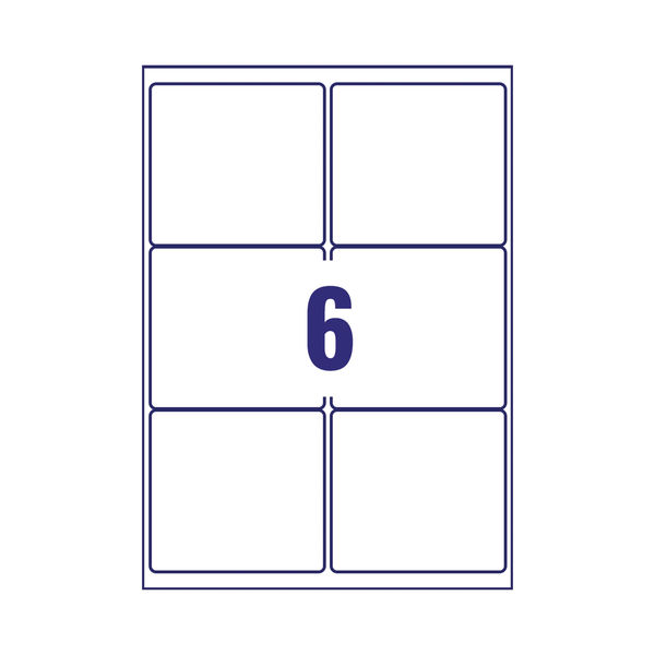 Avery Parcel Labels 33.1 x 93.1mm Permanent Clear (Pack of 150) L7564-25