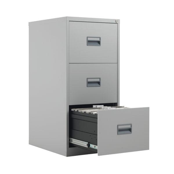 Talos 1000mm Grey 3 Drawer Filing Cabinet